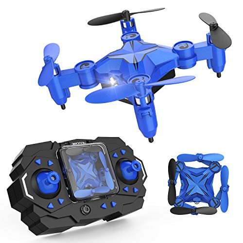 DROCON Mini RC Drone for Kids, Portable Pocket Quadcopter with Altitude Hold Mode, One-Key Take-Off & Landing, 3D Flips and Headless Mode, Easy to Fly for Beginners, Great Gift by DROCON