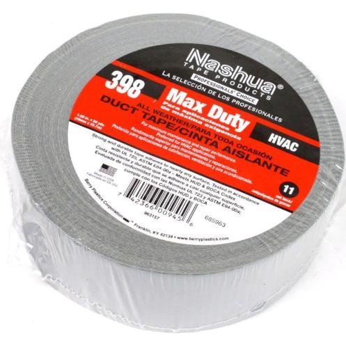 Nashua 398 Duct Tape (Nashua 1.89 X 50 Yd Max Duty 398 All-Weather Hvac Duct Tape- 00945)