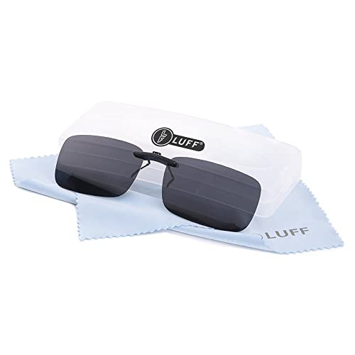aaa4f0d9c80 LUFF Polarized Unisex Clip on Sunglasses for Prescription Eyeglasses-Good  Clip Style Sunglasses for Myopia