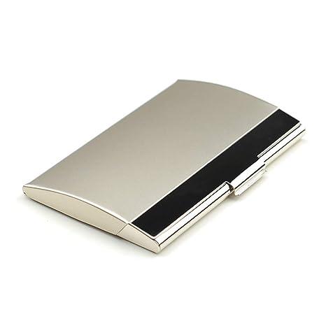 Amazon.com: Caja de tarjetas de acero inoxidable para ...