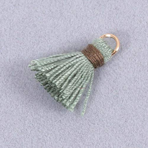 (10PCS 2cm Cotton Tassel Earring Bursh Accessories DIY Jewelry Making (Color - Army Green))