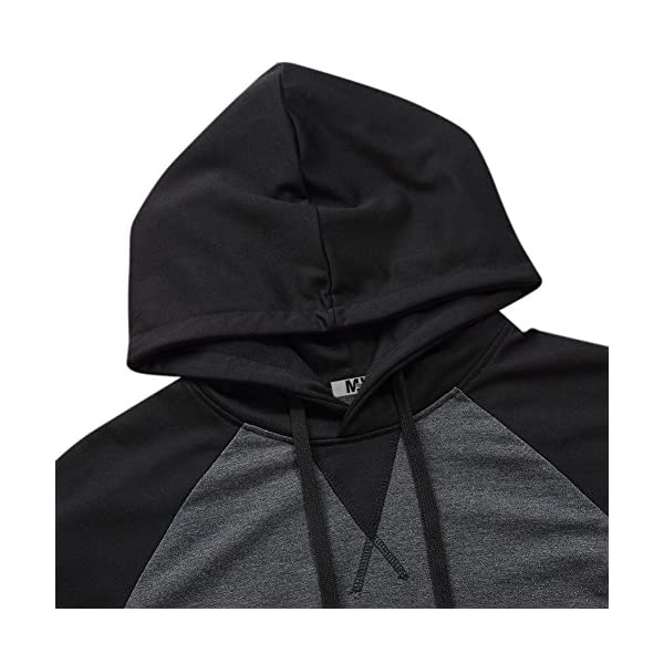MrWonder Men's Casual Slim Fit Short Sleeve Lightweight Raglan Pullover Hoodie Shirt
