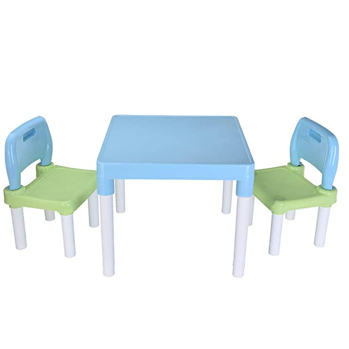 Brilliant Amazon Com Plastic Kids Table And 2 Chairs Set Set For Camellatalisay Diy Chair Ideas Camellatalisaycom