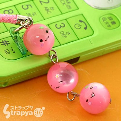 Momo Chan Triplets Crystal Cell Phone Strap
