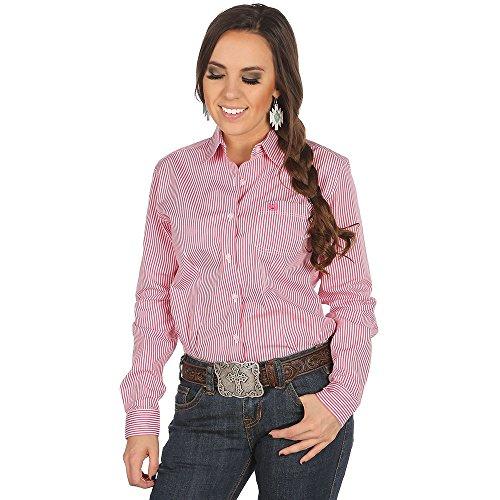 Panhandle Slim Womens Slim Button Down Stripe Shirt M (Panhandle Western Shirts)