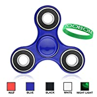 TOOBOM Fidget Spinner Premium Bearing Durable Construction NON-3D Printed Spinning Smooth Long Time Fidget Toy ADHD Relief Stress Reducer Hand Spinner Quiet (BLUE, 1 PACK)