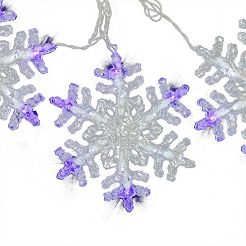 Blue And White Led Snowflake Lights in US - 9