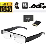 Lushuai @ V12 HD Spy Camera / 32GB 1080P HD Spy Camera Mini-DV-Brille links Objektiv Brille versteckte Kamera DVR Video-Audiorecorder Kameraobjektiv auf 30fps