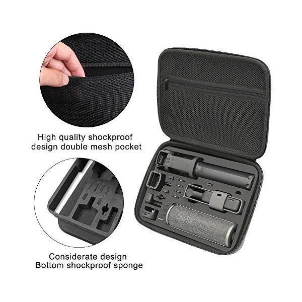 Surewo, custodia impermeabile per il trasporto, custodia da viaggio compatibile con DJI Osmo Pocket (media) 4 spesavip