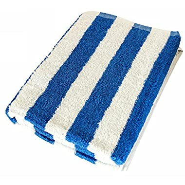 Utopia Towel 30 x 60 Inch Cotton Beach Towel in Cabana Stripe – Blue