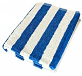 Large Beach Towel-Pool Towel- in Cabana Stripe, Blue 1 Pack, 100% Cotton, 30 by 60 Inches - by Utopia Towel