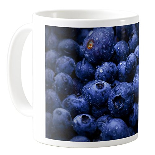 AquaSakura - Blueberry - 11oz Ceramic Coffee Mug Tea Cup