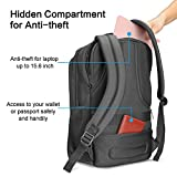 OMOTON Business Laptop Backpack - Anti-theft Water-resistant Computer Backpack Bag Fits up to 15.6 inch Laptop Macbook and Tablets (Black, 15.6 inch)