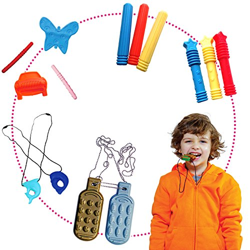 Fun and Function Chewy Super Pack – Helps Kids to Maintain Focus with 10 Chewies for Moderate to Heavy Chewers, Ages 3+ by Fun and Function