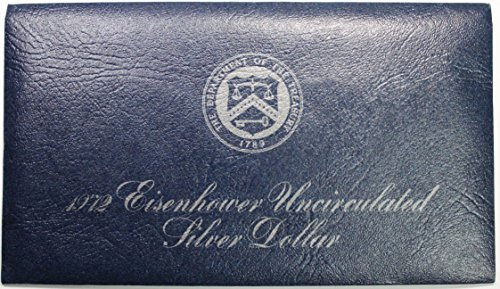 1972 S Eisenhower Ike Dollar in Blue Envelope $1 (1972 Eisenhower Dollar Coin)