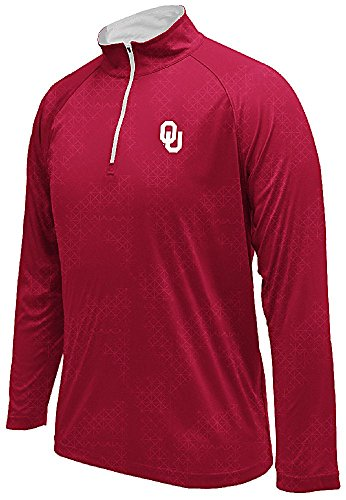 (Oklahoma Sooners Crimson Gridlock Pullover Synthetic Windshirt (X-Large))