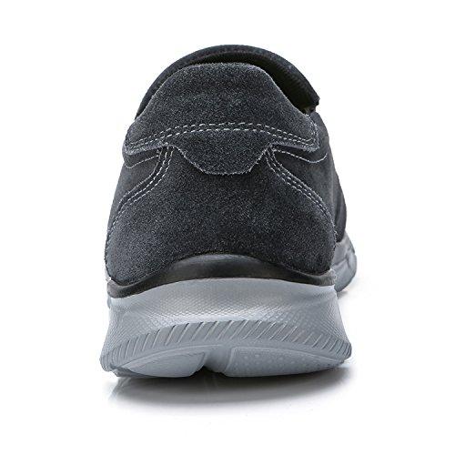 Grigio Fitness Pelle CROWN Comodo Outdoor Basse Uomo Scuro da Sneakers Scarpe Running CAMEL Leggere xH7wdzx