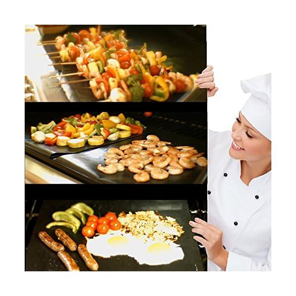 Extsud Set di 5 Tappetini da BBQ Griglia Resistente al Calore Antiaderente Riutilizzabili, Tappeto per Griglia a Carbone… 2 spesavip