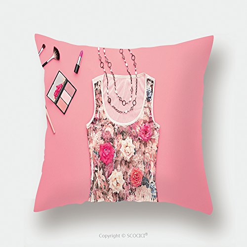 Custom Satin Pillowcase Protector Fashion Woman Clothes Accessories Set Fashion Cosmetic Makeup Stylish Glamor Dress Rose Fashion 488929423 Pillow Case Covers Decorative by chaoran