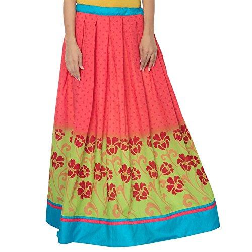 Skirt Pink Cotton Women Handicrfats Indian and Yellow Export Admyrin CfxwqO