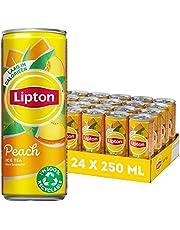 Lipton Ice Tea Peach, een heerlijk verfrissende ijsthee - 4x6 - 24 blikjes - 250ML