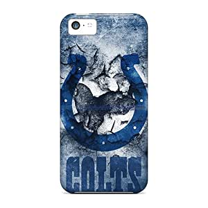 Scratch Protection Cell-phone Hard Covers For Iphone 5c With Unique Design Trendy Indianapolis Colts Skin DrawsBriscoe