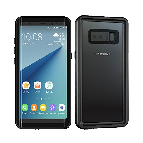 Galaxy Note 8 Waterproof Case, Besinpo Underwater 6.6ft 30 minutes Full Body Protective Cover for Samsung Galaxy Note 8 Only(6.3inch,Black)