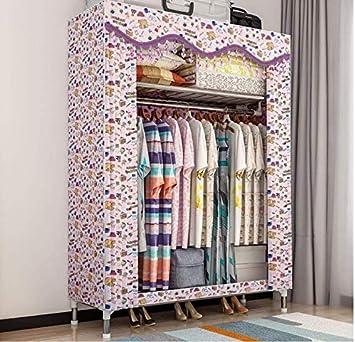 Armarios adultos armario, estilo de la cortina cortina de tela, plegable 80x46x168cm armario, armario con vestidor mesa de vestir textiles no tejidos,A: Amazon.es: Hogar