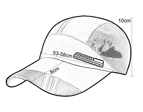 Panegy Unisex Adults Nylon Sun Protection Hat Mesh Cotton Cap for Fishing Hiking Rose Pink by Panegy (Image #4)