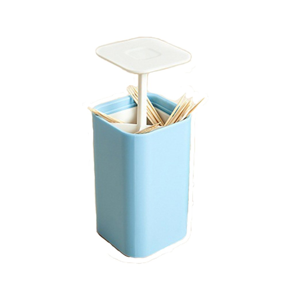 Automatic Pop-up Cotton Swabs Toothpick Holder Dispenser Case Q-tips Holder Storage Organizer Box Home Hotel Decoration
