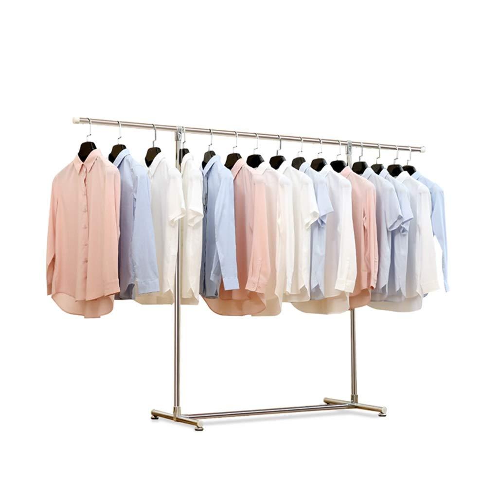 乾燥ラック ダブルロッド乾燥ラックステンレス鋼床折りたたみ式伸縮式バルコニー屋内ハンガー衣類ラックベアリング100kg (サイズ さいず : Length(125-200)) B07JYXTS4W  Length(125-200)