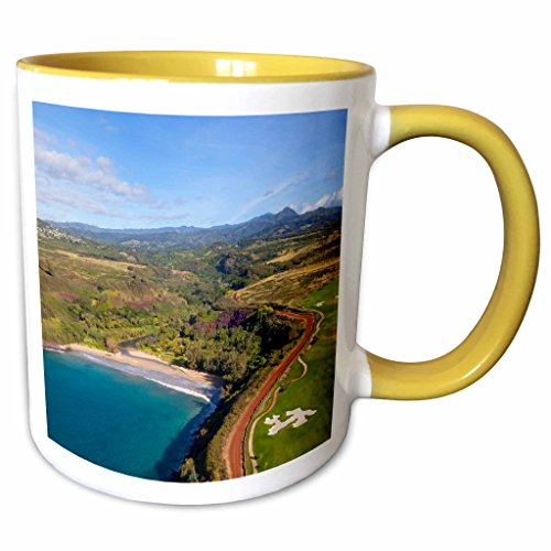 3dRose Danita Delimont - Hawaii - Kukuiula, Poipu, Kauai, Hawaii, USA - US12 DPB2443 - Douglas Peebles - 11oz Two-Tone Yellow Mug - Hawaii Kukuiula