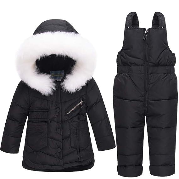d5a60f25a Unisex Baby Toddler Winter Snowsuit Ski Snowpants Bib Down Coat ...