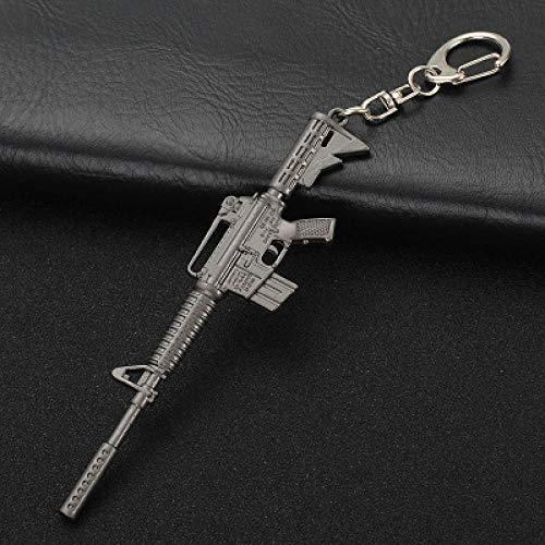 - PUBG AK47 98K M416 M24 AWM Fashion Motorcycle Keyring Cars Keychain Interior Suspension Key Fobs OEM Jewelry Key Chain M4-A1