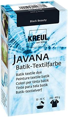 Kreul 98536 - Javana Batik Textilfarbe, zum Färben von Textilien mit der Shibori Technik, 70 g Farbpulver in Black Beauty