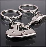 SAMGU Keychain Une paire de Porte-cles de pendentif en forme de coeur et de fleche pour les couplesPresent Gift