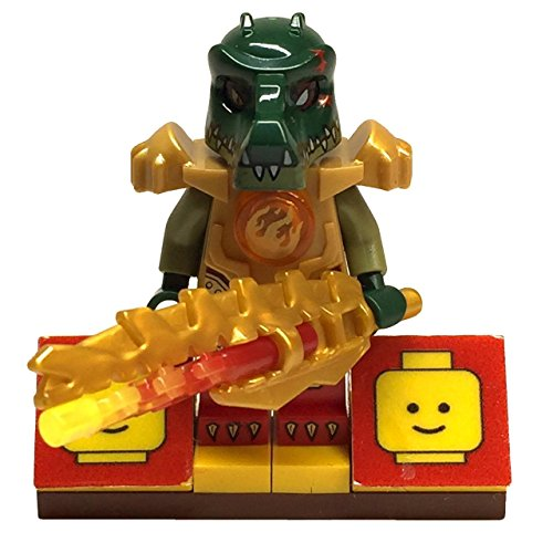 MinifigurePacks: Lego Legends of Chima Bundle (1) Swamp Skimmer Cragger Minifigure (1) Figure Display Base (1) Figure Accessory's (Serrated Flame (Skimmer Base)