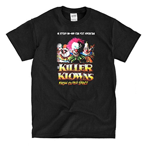 Killer Klowns From Outer Space Movie Poster - Black T-Shirt (2xl)