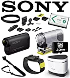 Sony AS30V HDR-AS30VW AS30VW HDRAS30VW POV HD 1080p Wearable Cam with Carl Zeiss Lens, Built-In WiFi, GPS and NFC (Wearable Pack) w/ GoScope Extreme Monopod, Bluetooth Speaker, 32GB Deluxe Kit