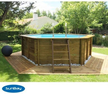 Wallis piscina redonda de madera: Amazon.es: Jardín