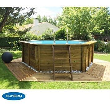 Pool aus Holz rund Wallis: Amazon.de: Garten