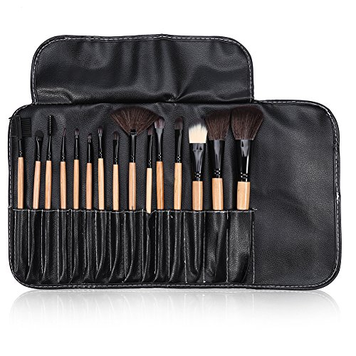 Makeup Brush Set, 15pcs Makeup Brushes Kit Eye Shadow Lip Blush Foundation Powder Cosmetic Tool Set ()