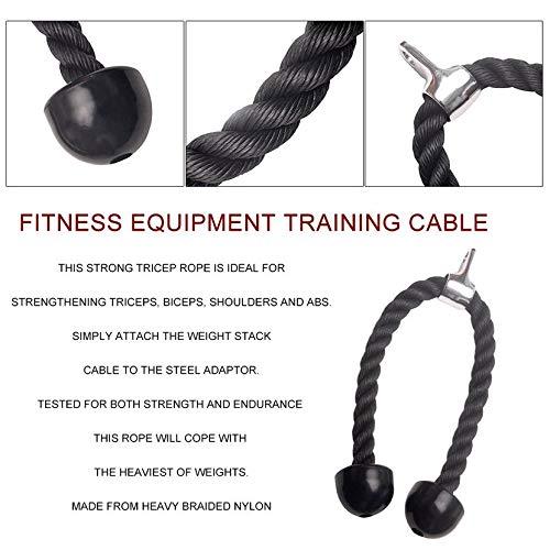 Yogasada Sujeción de Cuerda de tríceps para Trabajo Pesado Culturismo Plástico Extremo Extremo Gimnasio Ejercicio para Fortalecer el tríceps Bíceps ...