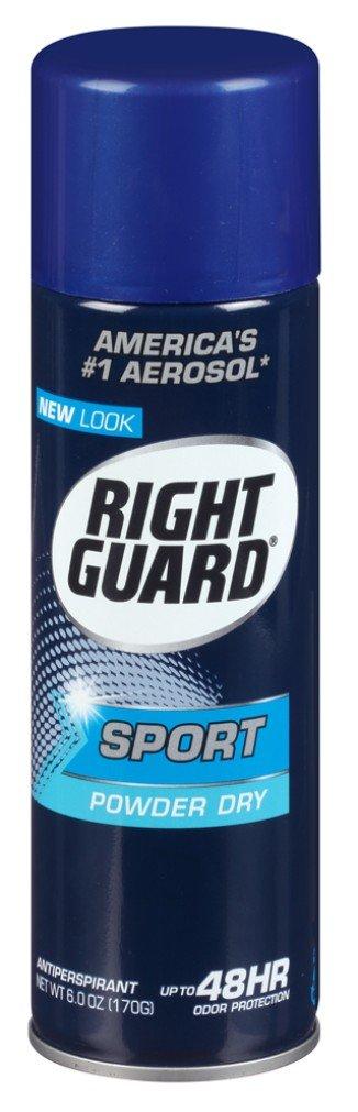 Right Guard Aerosol Sport Powder Dry Antiperspirant, 6 oz (Pack of 6)