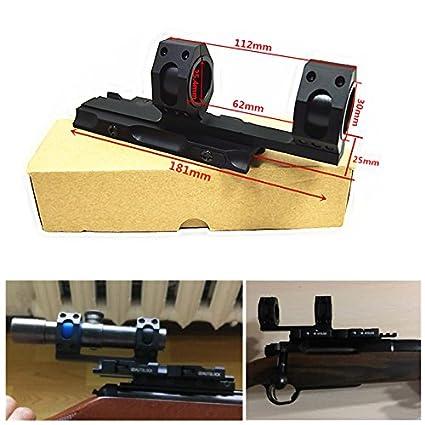Amazon.com: xwxs 30 mm/25.4 mm Fusil Scopes Anillo Auto Lock ...