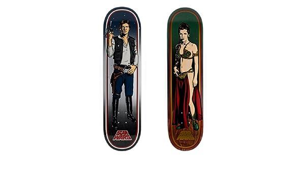 2ee58714fb Amazon.com   Star Wars Skateboard HAN SOLO   PRINCESS LEIA 2 DECK PACK  Santa Cruz Collectible   Sports   Outdoors