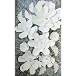 One-Color-Paper-Flowers-Wall-Decor-Includes-7-Paper-Flowers-and-3-Pairs-of-Paper-Leaves-Fully-Assembled