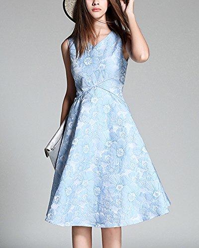 Cocktailkleid Damen Jacquard Kleid 1950er Jahre Party Kleid ...