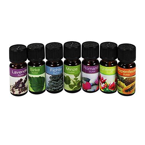 COM-FOUR® verschiedene Raumdüfte/ Duftöle für Duftlampen/ Duftstövchen (7er Set Mix)
