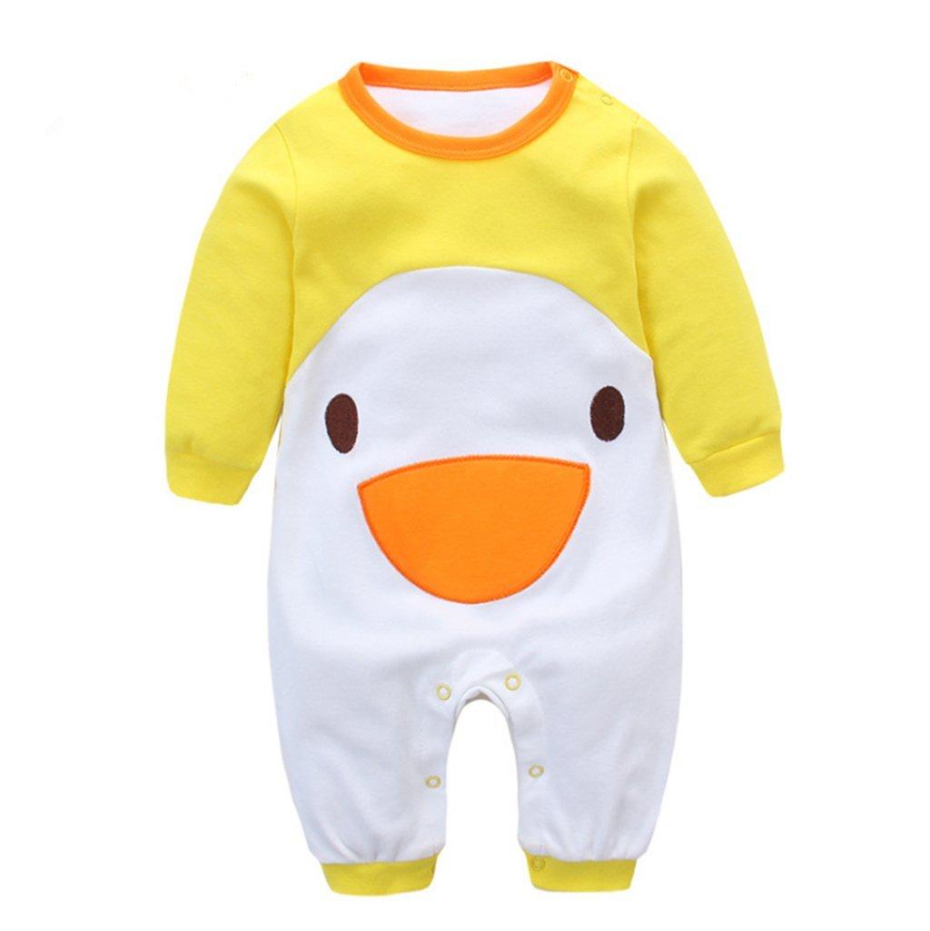 7714818eb06c67 Vine Baby Jungen Schlafstrampler Schlafanzug für Mädchen, Einteiler langarm  Schlafoverall Baby-Nachtwäsche, 0-3 Monate